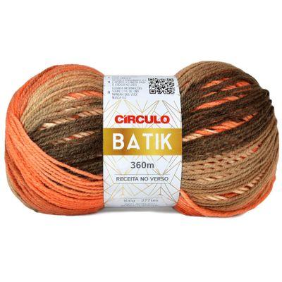 La-Batik-Circulo-100g-Cor-9508-Mescla-Batom-Laranja-Bege-Marrom-Della-Aviamentos