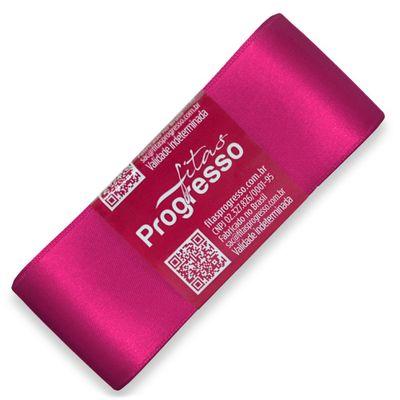 Fita-de-Cetim-Progresso-nº-09-38-mm-Pacote-de-10-metros-Cor-303-Pink-Fuschia-Della-Aviamentos