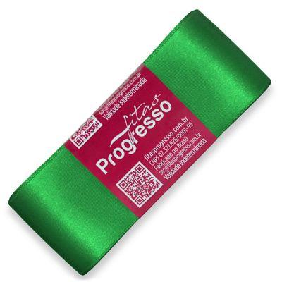 Fita-de-Cetim-Progresso-nº-09-38-mm-Pacote-de-10-metros-Cor-217-Verde-Bandeira-Emerald-Della-Aviamentos