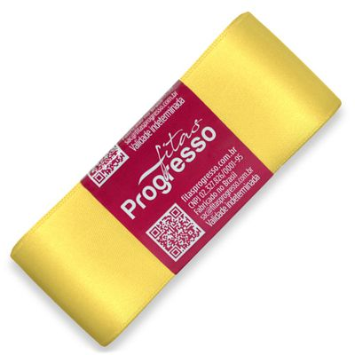 Fita-de-Cetim-Progresso-nº-09-38-mm-Pacote-de-10-metros-Cor-242-Amarelo-Canario-Light-Lemon-Della-Aviamentos