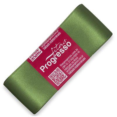 Fita-de-Cetim-Progresso-nº-09-38-mm-Pacote-de-10-metros-Cor-249-Verde-Militar-Forest-Green-Della-Aviamentos