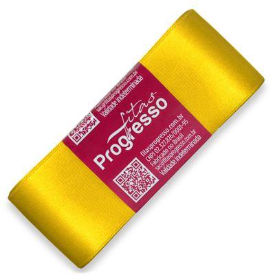 Fita-de-Cetim-Progresso-nº-09-38-mm-Pacote-de-10-metros-Cor-763-Amarelo-Gema-Yellow-Gold-Della-Aviamentos