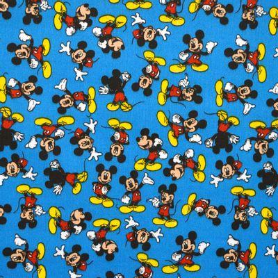 Tecido-Tricoline-Estampado-Colecao-Disney-Mickey-Mouse-Fundo-Azul-Della-Aviamentos.