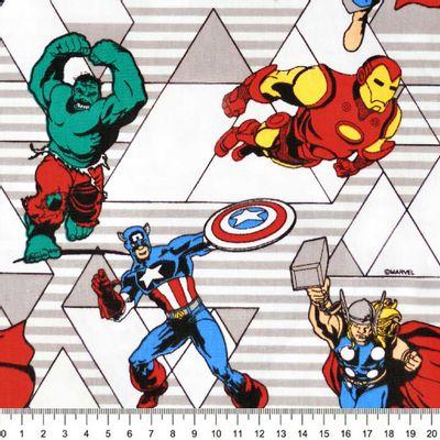 Tecido-Tricoline-Estampado-Colecao-Marvel-Vingadores-Retro-Fundo-Branco-Della-Aviamentos-8713