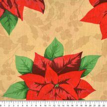 Tecido-Tricoline-Natal-Poinsetia-Grande-Fundo-Bege-Della-Aviamentos-8708