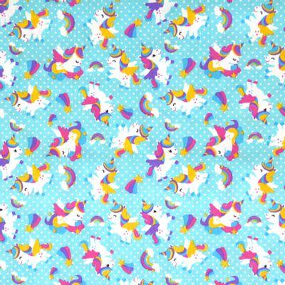 Tecido-Tricoline-Estampado-Unicornio-Colorido-Fundo-Tiffany-Della-Aviamentos.