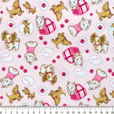 Tecido-Tricoline-Estampado-Cachorro-Puddle-Fundo-Rosa-Della-Aviamentos-8720