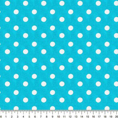 Tecido-Tricoline-Estampado-Poa-Grande-Branco-Fundo-Azul-Della-Aviamentos-8745