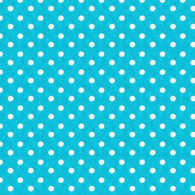 Tecido-Tricoline-Estampado-Poa-Grande-Branco-Fundo-Azul-Della-Aviamentos.