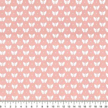 Tecido-Tricoline-Estampado-Borboleta-Branco-Fundo-Rosa-Della-Aviamentos-8741