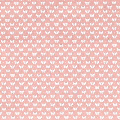 Tecido-Tricoline-Estampado-Borboleta-Branco-Fundo-Rosa-Della-Aviamentos.