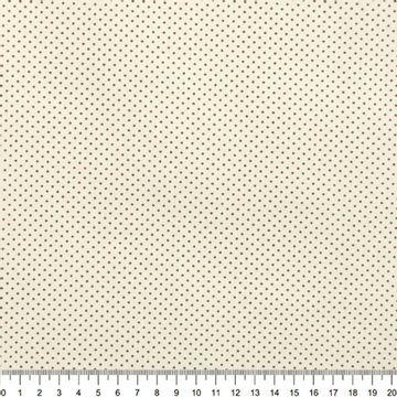 Tecido-Tricoline-Estampado-Poa-Mini-Marrom-Fundo-Bege-Della-Aviamentos-8735