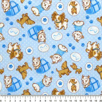 Tecido-Tricoline-Estampado-Cachorro-Puddle-Fundo-Azul-Della-Aviamentos-8721