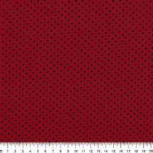 Tecido-Tricoline-Estampado-Poa-Pequeno-Preto-Fundo-Vermelho-Della-Aviamentos-8730