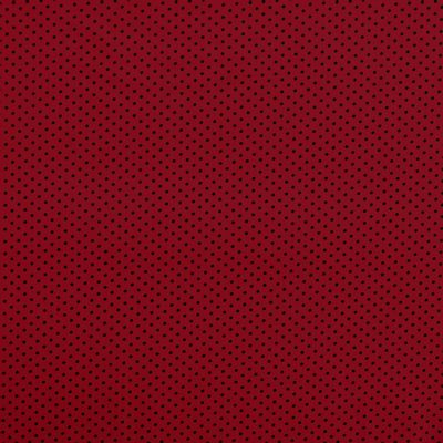 Tecido-Tricoline-Estampado-Poa-Pequeno-Preto-Fundo-Vermelho-Della-Aviamentos.