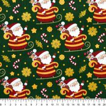 Tecido-Tricoline-Natal-Papai-Noel-No-Treno-Fundo-Verde-Della-Aviamentos-8727