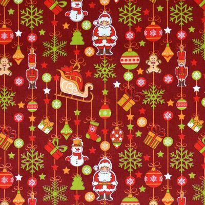 Tecido-Tricoline-Natal-Enfeites-de-Natal-Fundo-Vermelho-Della-Aviamentos.