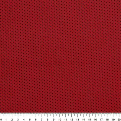 Tecido-Tricoline-Estampado-Poa-Mini-Preto-Fundo-Vermelho-Della-Aviamentos-8732