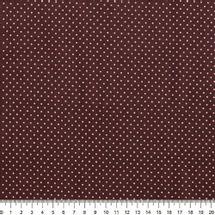 Tecido-Tricoline-Estampado-Poa-Rosa-Fundo-Marrom-Della-Aviamentos-5141
