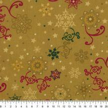Tecido-Tricoline-Estampado-Natal-Textura-Fundo-Ocre-Della-Aviamentos-8499