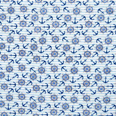 Tecido-Tricoline-Estampado-Infantil-Ancora-Azul-Fundo-Listrado-Della-Aviamentos.