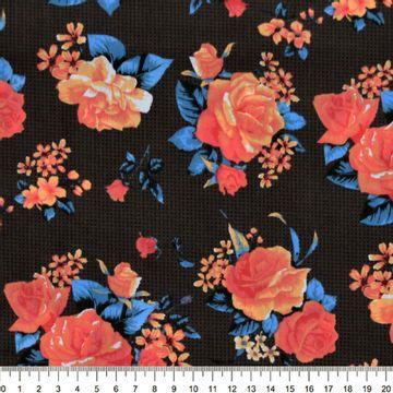 Tecido-Tricoline-Estampado-Floral-Bouquet-Rosas-Fundo-Preto-Della-Aviamentos-7462
