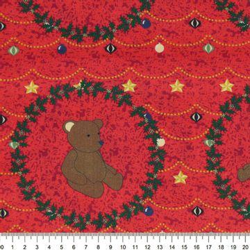 Tecido-Tricoline-Estampado-Natal-Guirlanda-Urso-Fundo-Vermelho-Della-Aviamentos-5783