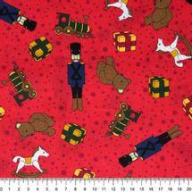 Tecido-Tricoline-Estampado-Natal-Soldadinho-Urso-Fundo-Vermelho-Della-Aviamentos-5778