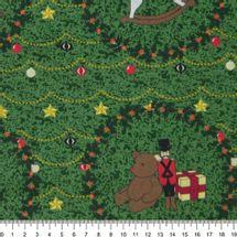 Tecido-Tricoline-Estampado-Natal-Guirlanda-Urso-Fundo-Verde-Escuro-Della-Aviamentos-5766