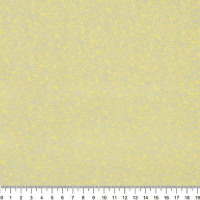 Tecido-Tricoline-Estampado-Textura-Caracol-Cinza-Fundo-Amarelo-Della-Aviamentos-5390