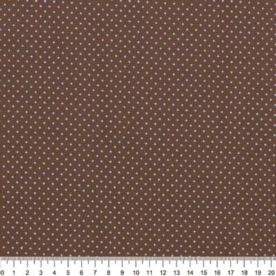 Tecido-Tricoline-Estampado-Poa-Azul-Fundo-Marrom-Della-Aviamentos-14530101