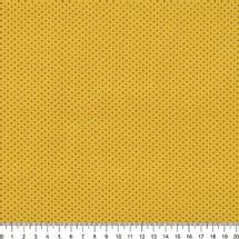 Tecido-Tricoline-Estampado-Poa-Mini-Marrom-Fundo-Amarelo-Della-Aviamentos-6317