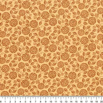 Tecido-Tricoline-Estampado-Floral-Rosas-Sombreadas-Caramelo-Della-Aviamentos-5681