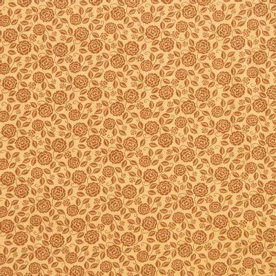 Tecido-Tricoline-Estampado-Floral-Rosas-Sombreadas-Caramelo-Della-Aviamentos.