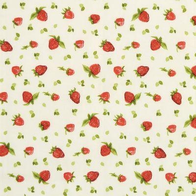 Tecido-Tricoline-Estampado-Frutas-Morangos-Fundo-Bege-Della-Aviamentos.
