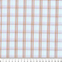 Tecido-Tricoline-Estampado-Xadrez-Marrom-Fundo-Azul-Claro-Della-Aviamentos-7100
