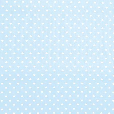 Tecido-Tricoline-Estampado-Coracao-Fundo-Azul-Claro-Della-Aviamentos.