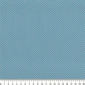 Tecido-Tricoline-Estampado-Poa-Mini-Bege-Fundo-Azul-Della-Aviamentos-8738