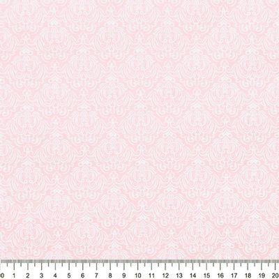 Tecido-Tricoline-Estampado-Arabesco-Branco-Fundo-Rosa-Della-Aviamentos-9060