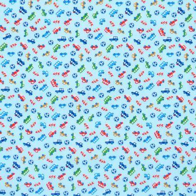 Tecido-Tricoline-Estampado-Infantil-Carrinhos-Fundo-Azul-Della-Aviamentos