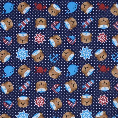 Tecido-Tricoline-Estampado-Infantil-Urso-Marinheiro-Fundo-Azul-Marinho-Della-Aviamentos
