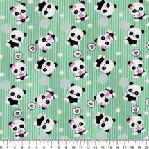 Tecido-Tricoline-Estampado-Urso-Panda-Fundo-Verde-Della-Aviamentos-9029