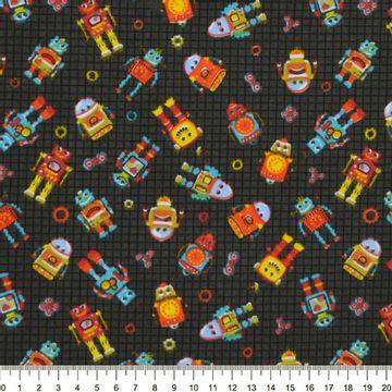 Tecido-Tricoline-Estampado-Infantil-Robo-Fundo-Preto-Della-Aviamentos-9051