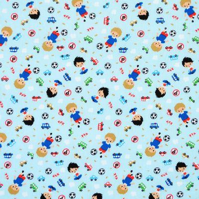 Tecido-Tricoline-Estampado-Infantil-Menino-e-Carros-Fundo-Azul-Claro-Della-Aviamentos