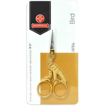 Tesoura-de-Bordar-Passaro-Dourado-ou-Cegonha-Mundial-9-cm-Ref-M428-3-Della-Aviamentos