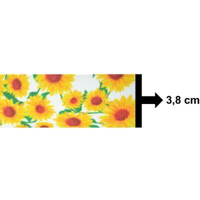 Fita-de-Gorgurao-Decorada-Progresso-38-mm-Rolo-de-10-metros-Floral-Cor-85-Girassois-Della-Aviamentos