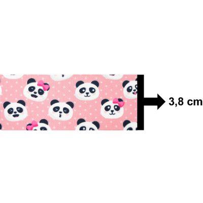 Fita-de-Gorgurao-Decorada-Progresso-38-mm-Rolo-de-10-metros-Cor-49-Panda-Fundo-Rosa-Della-Aviamentos