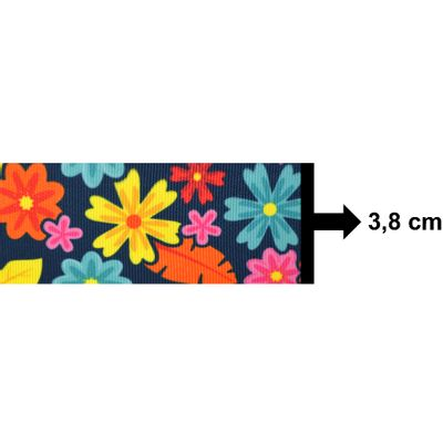 Fita-de-Gorgurao-Decorada-Progresso-38-mm-Rolo-de-10-metros-Cor-223-Floral-Marinho-Della-Aviamentos
