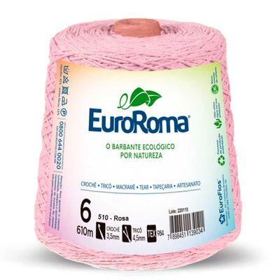 Barbante-Colorido-EuroRoma-nº-6-510-Rosa-Bebe-Della-Aviamentos
