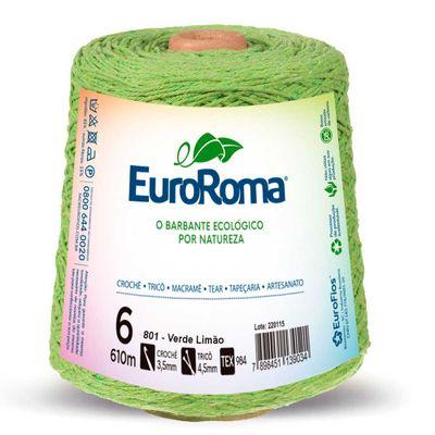 Barbante-Colorido-EuroRoma-nº-6-801-Verde-Limao-Della-Aviamentos